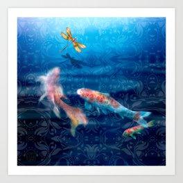 The Koi Damsel Art Print