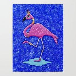 Fancy Francie Flamingo Poster