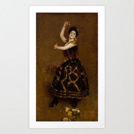 Carmencita , by William Merritt Chase 1849-1916 Art Print
