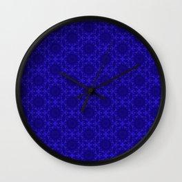 victorian paisley royal blue Wall Clock