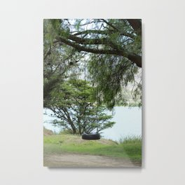 Tire Swing in a Tree Metal Print