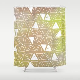 Tribal Watercolours - in Sunset Yellow Shower Curtain