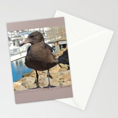 Portrait of a Grumpy Gull Stationery Cards