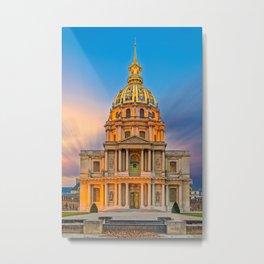 Dome church in Paris Metal Print