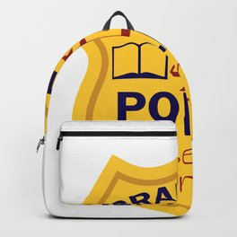 English Teacher Grammar Police Gift graphic Backpack