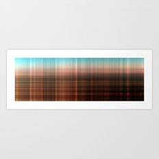 Mix Checked Art Print