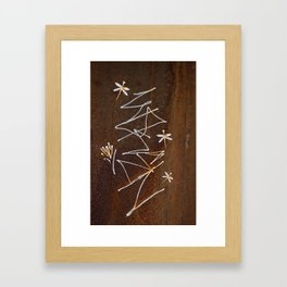Dragonfly and Flower Graffiti on Rust Framed Art Print