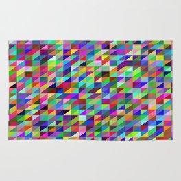 Colorful small trangles digital pattern Rug