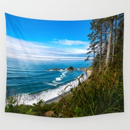 Pacific View - Coastal Scenery in Washington State Wall Tapestry