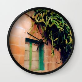 A Calm Place Watercolor Painting Wall Clock