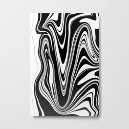 Stripes, distorted 2 Metal Print