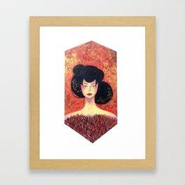 gold&red Framed Art Print