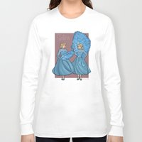 sisters Long Sleeve T-shirts featuring Sisters by Karen Hallion Illustrations