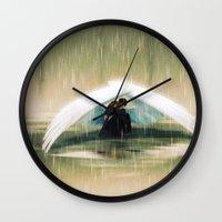 wings Wall Clocks featuring Wings by Emmy Cicierega