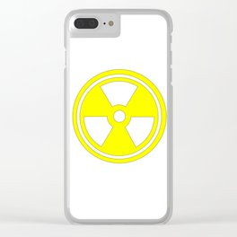 Caution Radioactive Sign In Yellow Clear iPhone Case