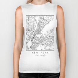New York New York Street Map Biker Tank
