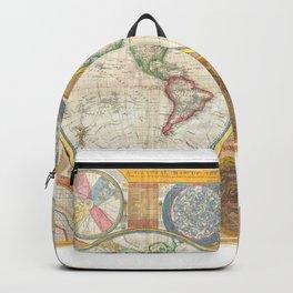 1794 Vintage World Map Samuel Dunn Backpack