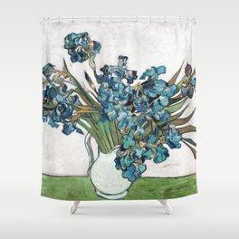 Vincent Van Gogh - Irises (new color editing) Shower Curtain