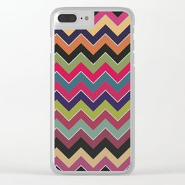 Colorful Wave Clear iPhone Case
