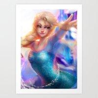 elsa Art Prints featuring Elsa by ChrySsV
