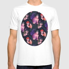 Grimes repeat Mens Fitted Tee MEDIUM White
