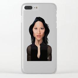 Celebrity Sunday - Lucy Liu Clear iPhone Case