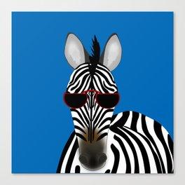 Shady Zebra Canvas Print