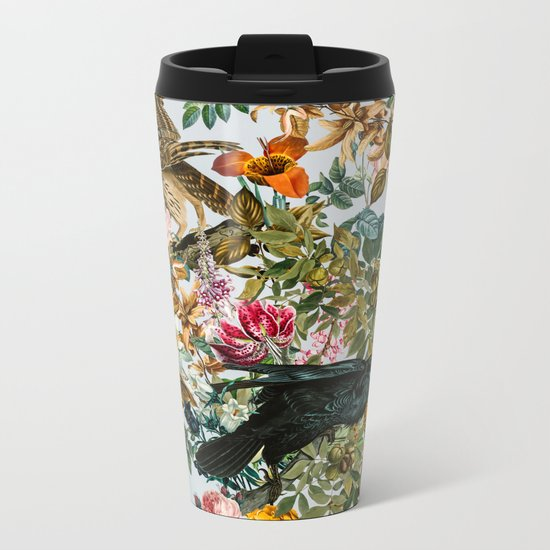 FLORAL AND BIRDS VI Metal Travel Mug