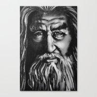 gandalf Canvas Prints featuring Gandalf by spiderdave7