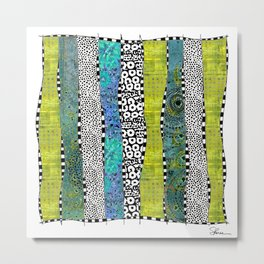 Happy Stripe Metal Print