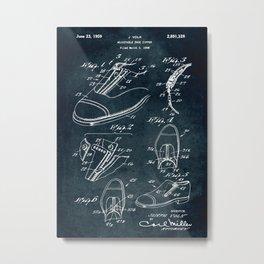 1958 - Adjustable shoe zipper Metal Print