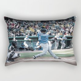 homerun hit Rectangular Pillow