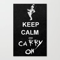 my chemical romance Canvas Prints featuring Keep Calm and Carry On: My Chemical Romance by alainaci