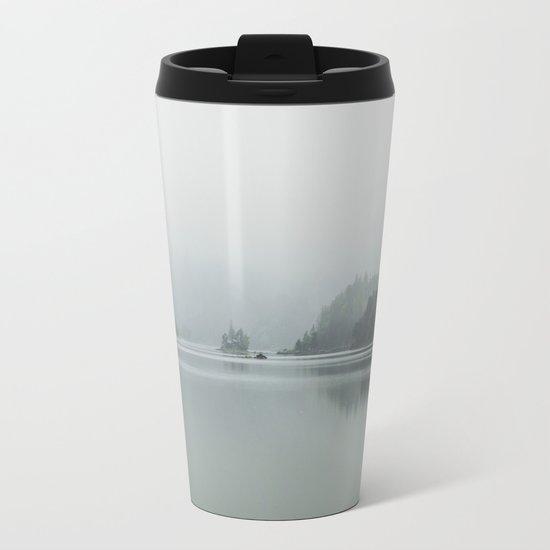 Fog - Landscape Photography Metal Travel Mug