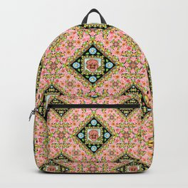 Cottage Pink Pansy Backpack