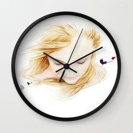 My finger tips are running through her hair, my mind is resting on her lips.. Wall Clock