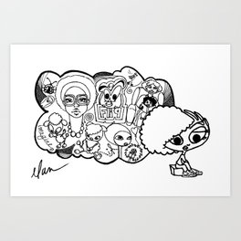 i dream... Art Print