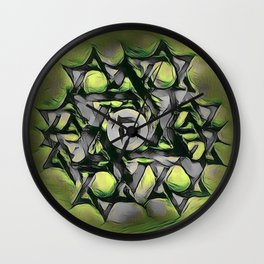 Chai Mandala - Green Wall Clock