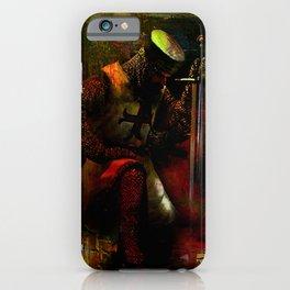 The prayer of the Knight Templar iPhone Case