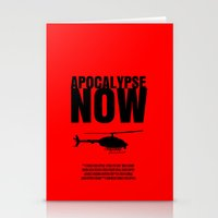 apocalypse now Stationery Cards featuring Apocalypse Now Move Poster by FunnyFaceArt