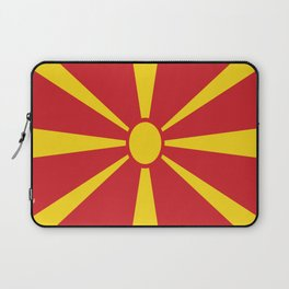 Flag of Macedonia - Macedonian,skopje,Bitola,Kumanovo,Prilep,Balkan,Alexander the great,Karagoz,red Laptop Sleeve