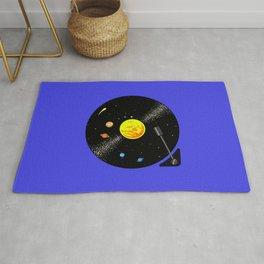 Solar System Vinyl Record Rug