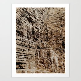 Cliff Closeup Art Print