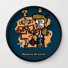 Monkey Wrench Wall Clock