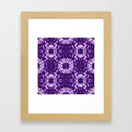 Shibori on Purple Framed Art Print