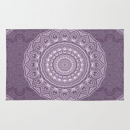 White Lace on Lavender Rug