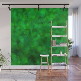 Fresh Bright Moss Green Abstract Wall Mural