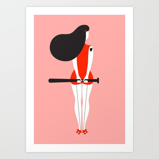 Roller Derby Day Art Print