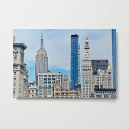 Heights and Sights NYC Metal Print