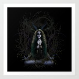 Earth Witch - Elements Collection Art Print